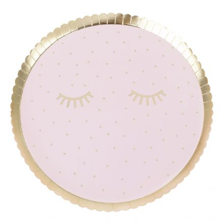 Pamper Party, Pink Sleepover Party Plates